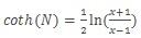 Formel for hyperbolisk arcus cotangens