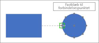 Målfigur viser værktøjstip: Fastklæb til forbindelsespunkt