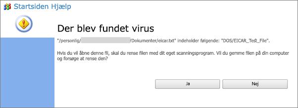Virusadvarsel