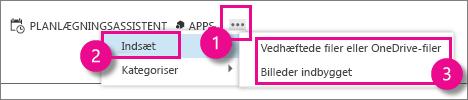 Knappen Flere handlinger i Outlook Web App