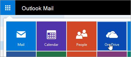 Et skærmbillede af flisen OneDrive i Appstarteren.