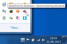 SharePoint-biblioteksmapper, hvor synkroniseringen er afbrudt midlertidigt