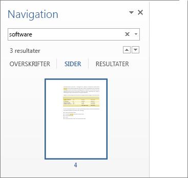Sider, som er filtreret til at vise søgeresultater