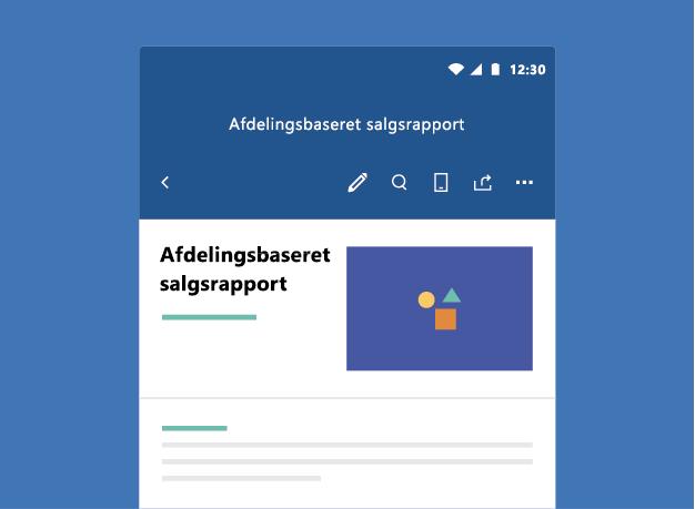 Viser Word-dokument