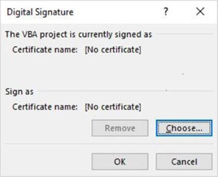 Vælg et certifikat