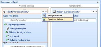 Skærmbillede af menupunktet Create Connections