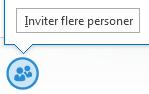 Skærmbillede af ikonet til at invitere flere personer fra chatvinduet