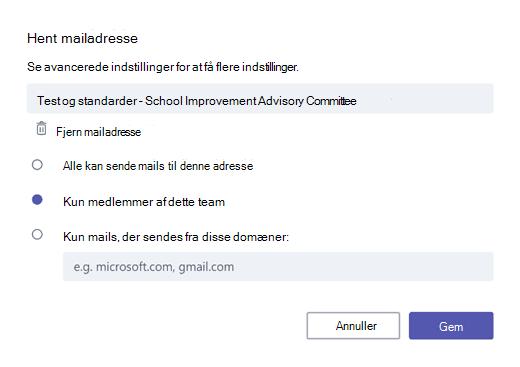 Få mail