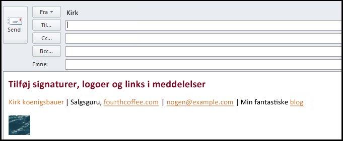 elektronisk signatur i e-mail-meddelelse
