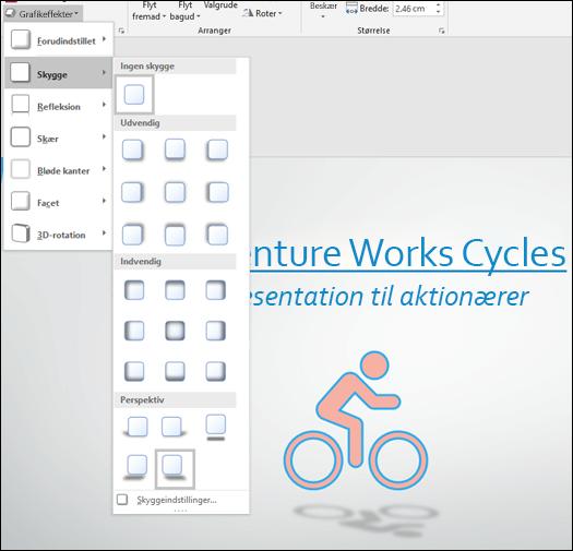 Tilføj effekter som skyggeeffekter til din SVG-grafik med værktøjet Grafikeffekter
