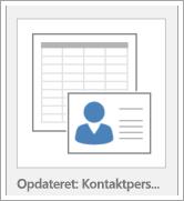 Ikon for indstillinger for databaseskabelon