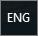 Indikator for engelsk tastatur