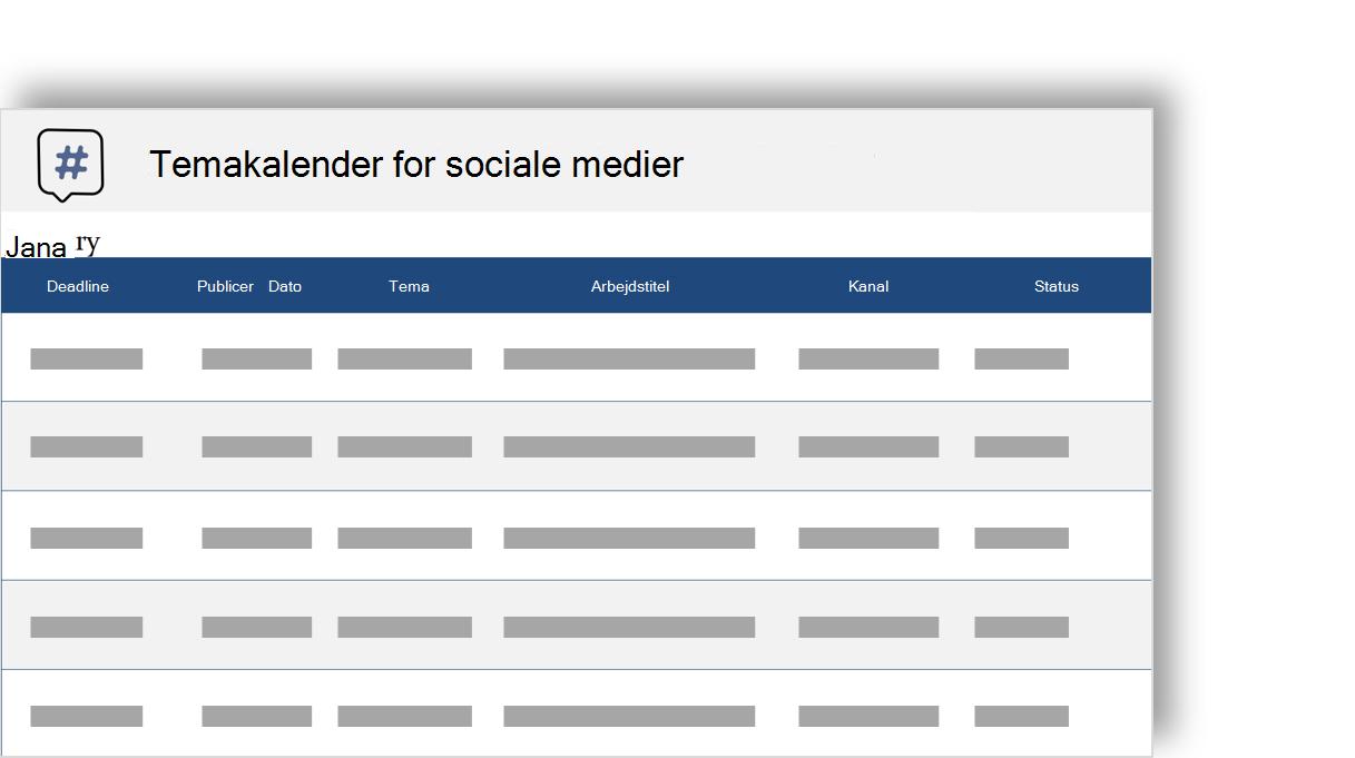 konceptuelt billede af en sociale medier redaktionel tema kalender