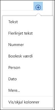 Opret en brugerdefineret visning af et dokumentbibliotek