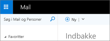 Sådan ser båndet ud i Outlook Web App