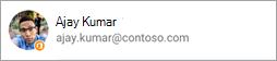 Skærmbillede, der viser Office-ikonet på avataren