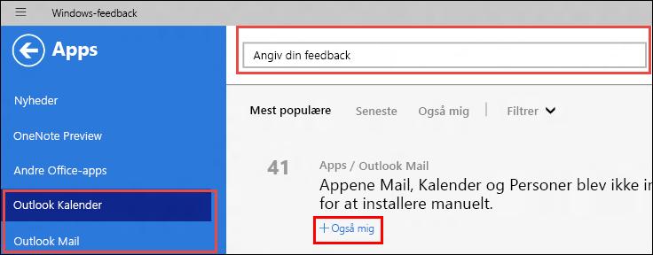 Siden Windows-feedback