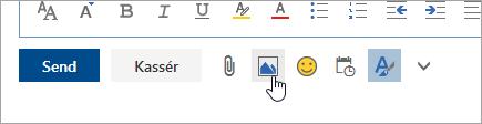 Skærmbillede af knappen Indsæt indbyggede billeder