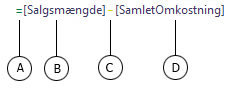 Formel for beregnet kolonne