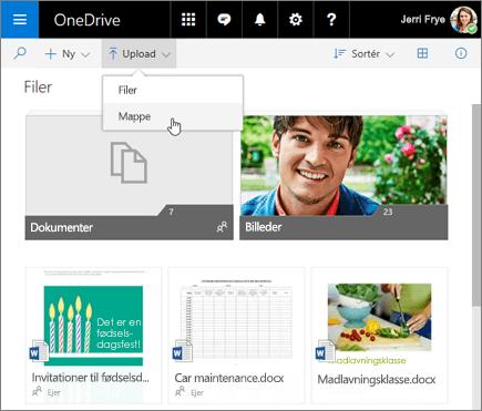 OneDrive Uploadmappe