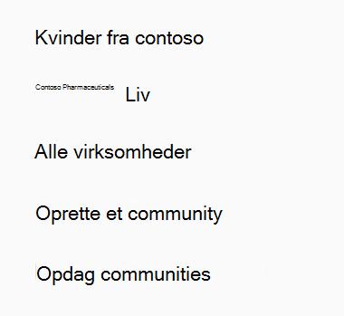 Oprette et Yammer-community