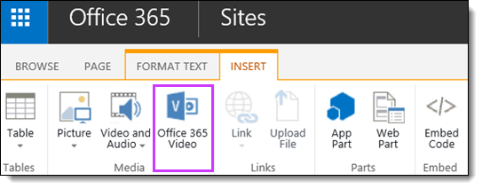 Office 365 Video integrere en Video