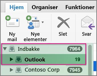 Send mail fra en anden kontotype end standard