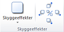 Gruppen Skyggeeffekter under fanen Billedværktøjer i Publisher 2010