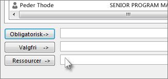 Tilføj alle de personer, du vil tilføje som bcc-modtager, i feltet Ressourcer.