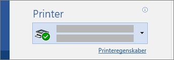 Printeregenskaber
