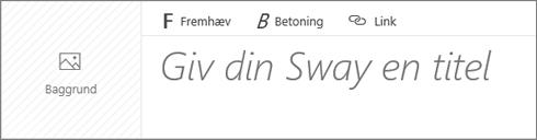 Skærmbillede af inputfeltet Navngiv din Sway.