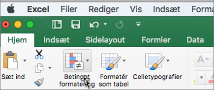 Betinget formatering