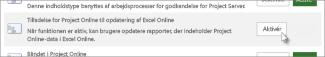 Tilladelse for Project Web App til opdatering af Excel Online