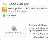Tilføj en ny mailkonto til Outlook 2010