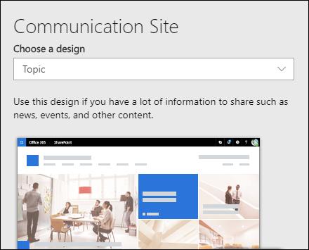 Anvende et design på et SharePoint-websted