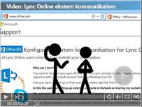 Miniature og link til video: Link online ekstern kommunikation