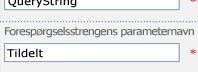 skriv assignedto i feltet forespørgselsstrengens parameternavn.