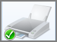 Grønt flueben på standardprinter