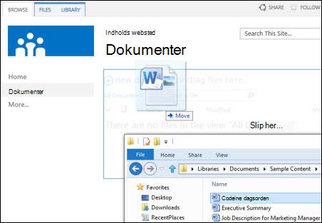 Slip filer i SharePoint