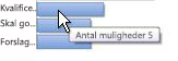 Et nærbillede af gadgeten Salgstragt, som illustrerer, hvordan du ved at holde markøren over en linje kan få vist specifikke data.