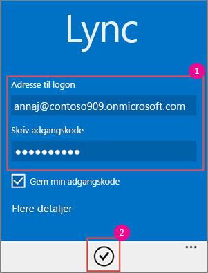 Lync-logon