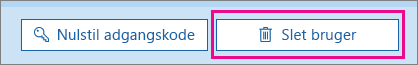 Slette en bruger i Office 365.