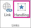 Handlingsknappen i gruppen Links