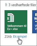 Få vist vedhæftede Office-filer i Outlook Web App