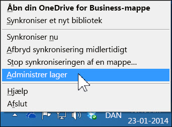 Administrere din OneDrive for Business-lagerplads