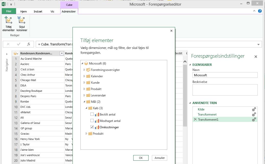 SAP Tilføj elementer