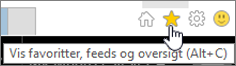 Knap til Internet Explorer-feed