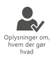 PMO-oplysninger om, hvem der gør hvad