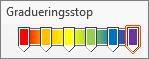 Regnbuegraduering med seks stop