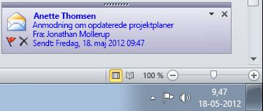 Outlook-skrivebordsbesked
